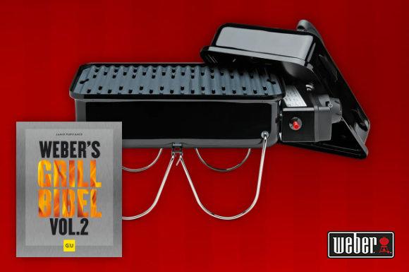 Hinter dem ersten Türchen unseres Advents-Shopping.de Adventskalender Gewinnspiels verbirgt sich der Weber Go-Anywhere Gasgrill inklusive dem Grillbuch Weber's Grillbibel Vol. 2.