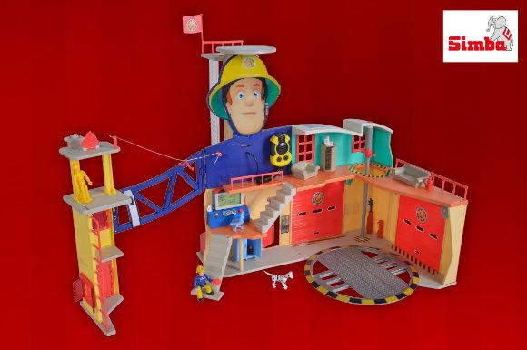 Gewinnen Sie hinter dem 3. Türchen unseres Adventskalender Gewinnspiels die Feuerwehrmann Sam Mega Feuerwehrstation XXL von Simba Toys.