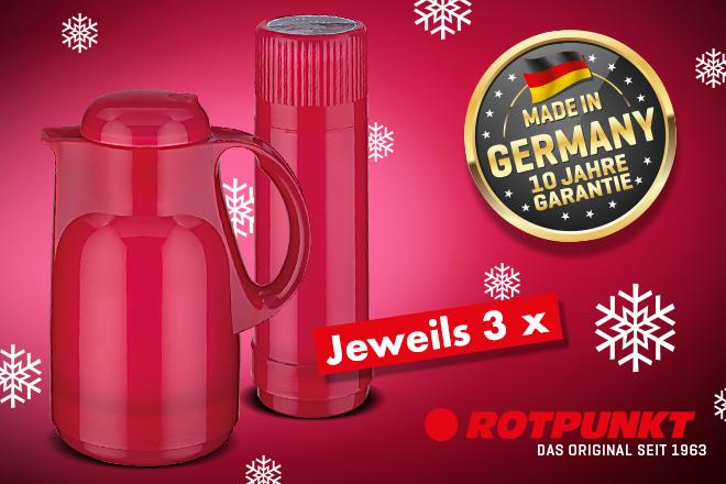 Gewinnen Sie heute hinter dem 4. Türchen des Advents-Shopping.de Adventskalender Gewinnspiels eines von 3 ROTPUNKT Sets
