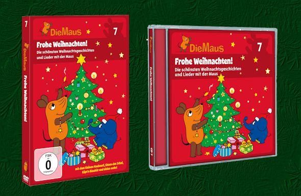 Frohe Weihnachten Cd.Frohe Weihnachten Mit Der Maus Neue Dvd Und Cd Als Geschenk